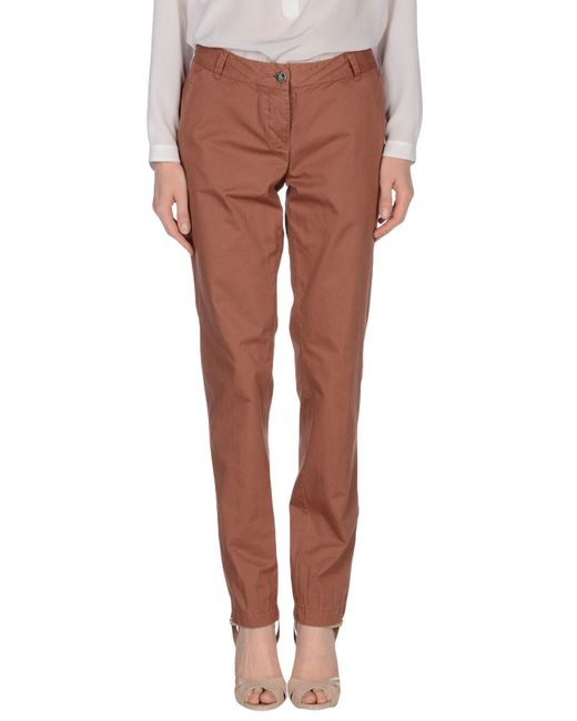 Maison Scotch - Brown Casual Trouser - Lyst