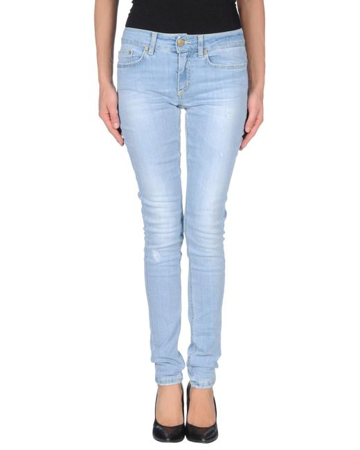 Dondup - Blue Denim Trousers - Lyst