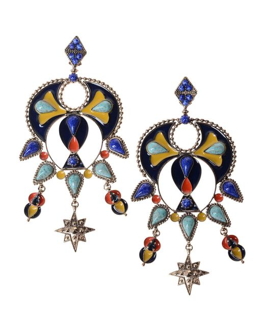 Roberto Cavalli - Blue Earrings - Lyst