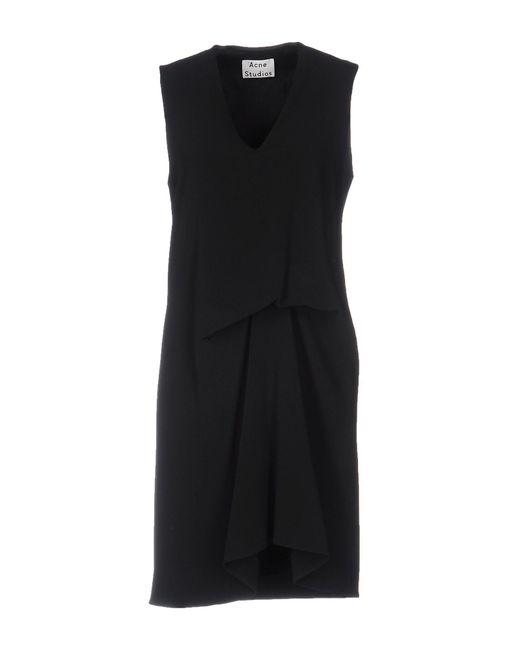 Acne - Black Short Dress - Lyst
