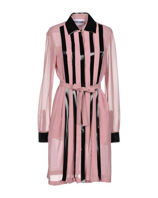 Moschino - Pink Short Dress - Lyst