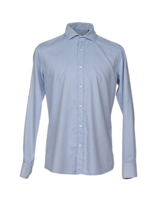 Massimo Rebecchi - Blue Shirt for Men - Lyst
