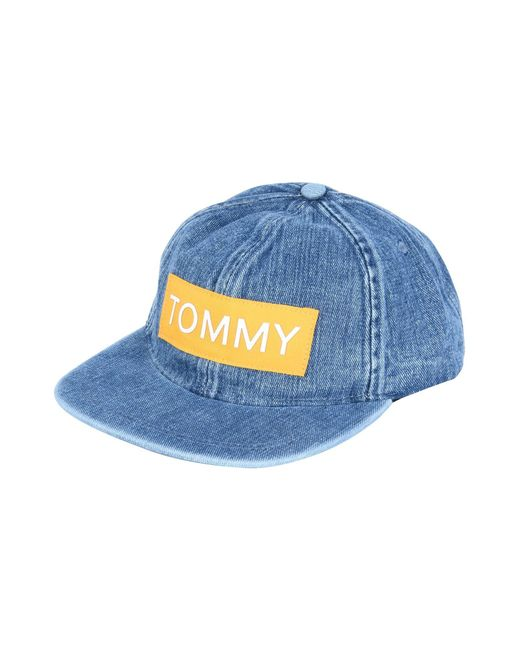 half off a5001 22bc1 Tommy Hilfiger - Blue Hat for Men - Lyst ...