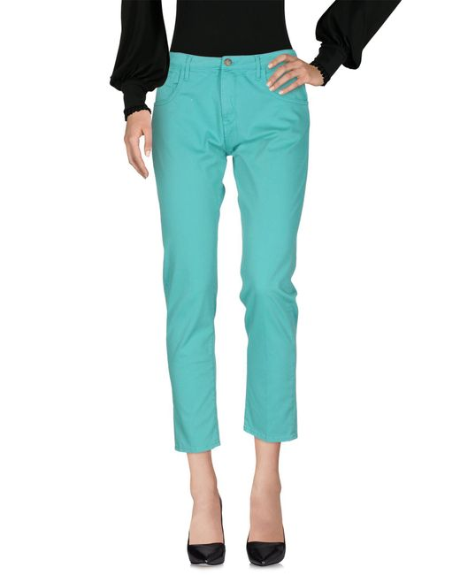 TRUE NYC - Green Casual Trouser - Lyst