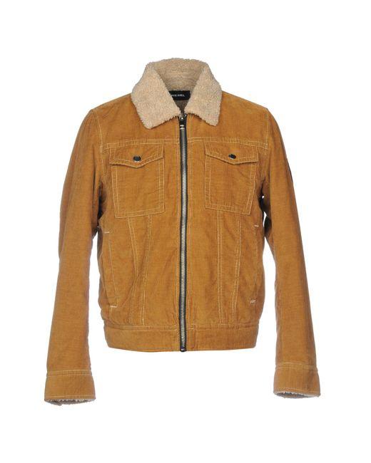 DIESEL - Brown Jacket for Men - Lyst