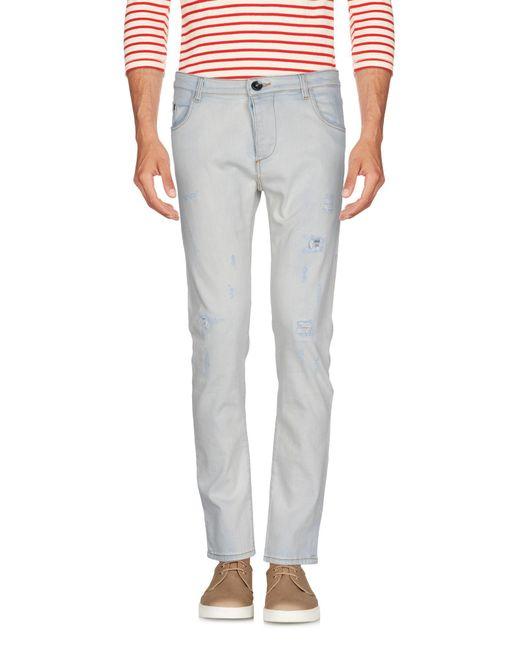 Officina 36 - Blue Denim Trousers for Men - Lyst