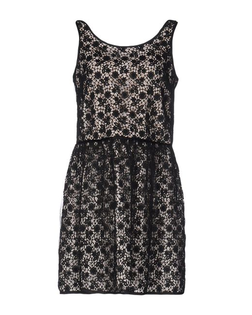 RED Valentino - Black Short Dress - Lyst