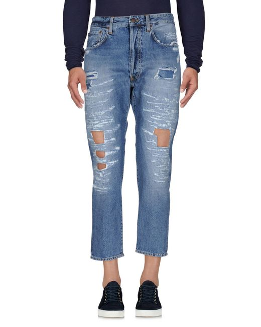People | Blue (+) People Denim Trousers for Men | Lyst