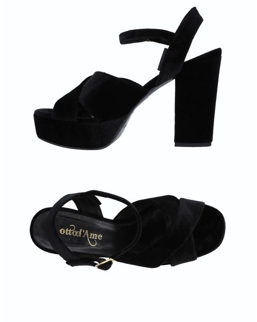 Ottod'Ame - Black Sandals - Lyst