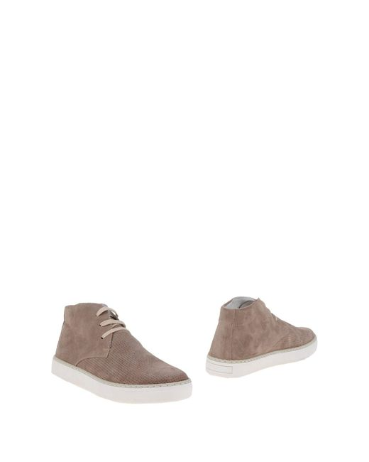 CafeNoir - Gray Ankle Boots for Men - Lyst