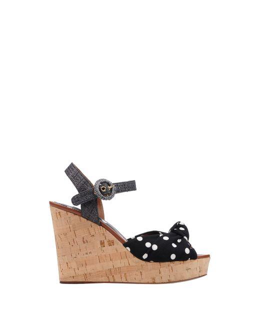 009f69572d4b ... Lyst Dolce   Gabbana - Black Sandals ...
