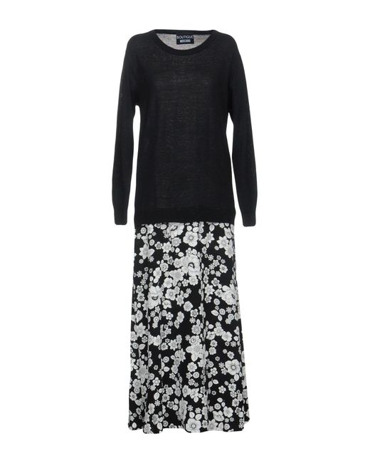 Boutique Moschino - Black Long Dress - Lyst