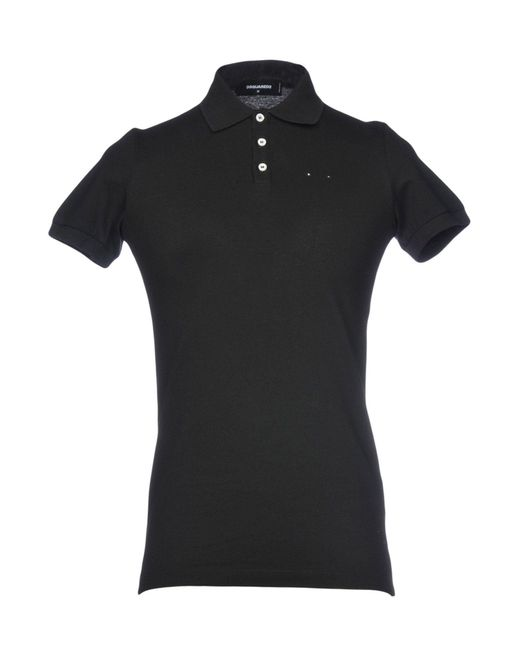 DSquared² - Black Polo Shirts for Men - Lyst