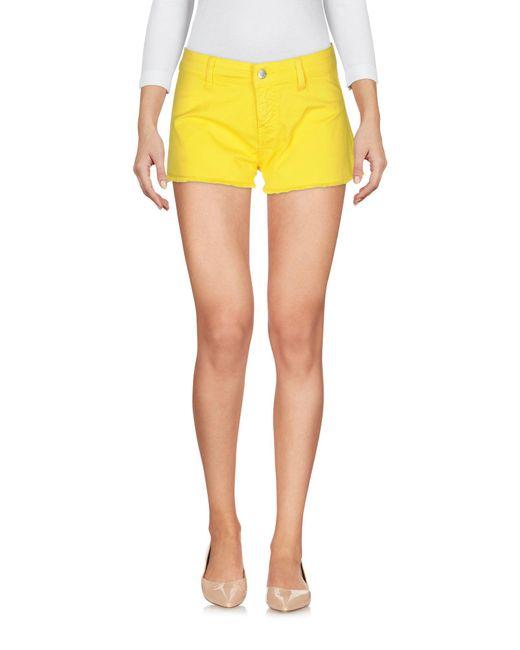 Met Yellow Shorts