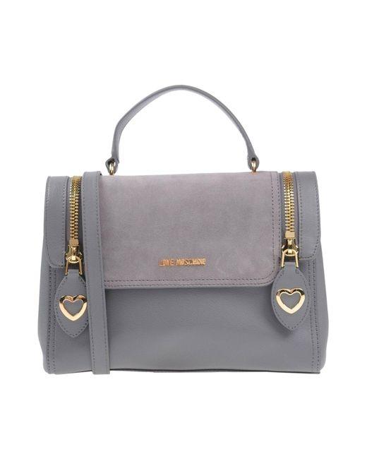 Love Moschino - Gray Handbag - Lyst