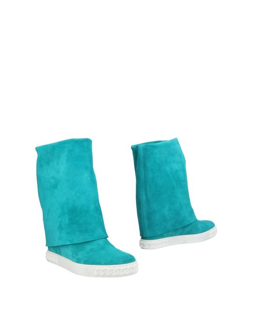 Casadei - Blue Ankle Boots - Lyst