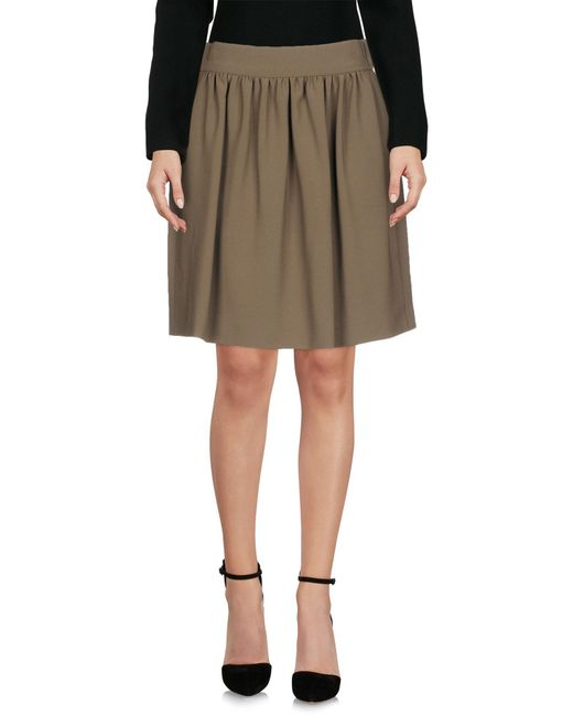 Boutique Moschino - Green Knee Length Skirt - Lyst