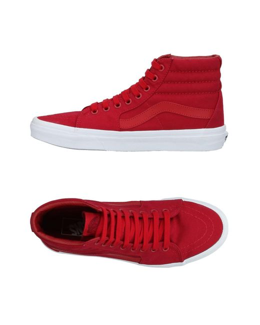 Vans - Red High-tops & Sneakers for Men - Lyst