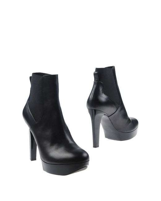 Robert Clergerie Black Ankle Boots