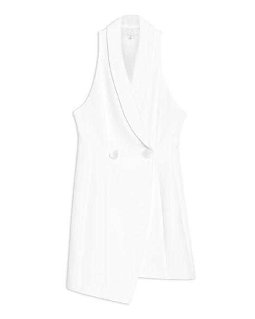 TOPSHOP - White Short Dress - Lyst