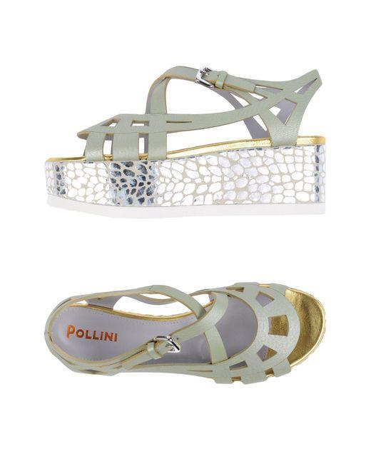 Pollini - Green Sandals - Lyst