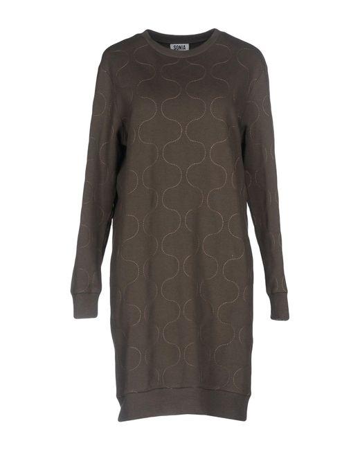 Sonia by Sonia Rykiel - Green Short Dress - Lyst