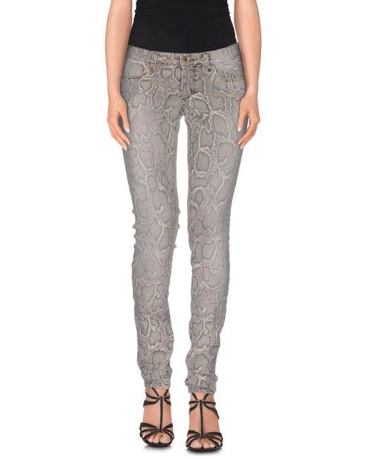 Plein Sud | Gray Denim Trousers | Lyst