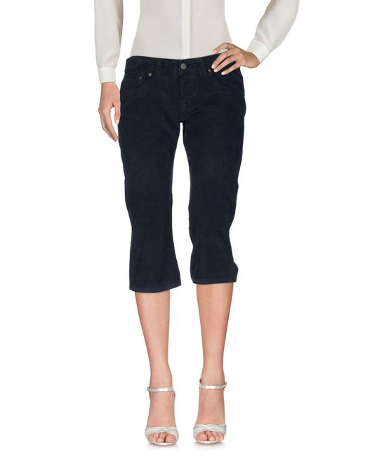 Dondup - Blue 3/4-length Trousers - Lyst