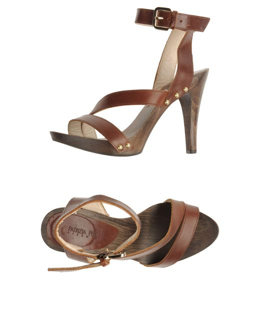 Patrizia Pepe - Brown Platform Sandals - Lyst