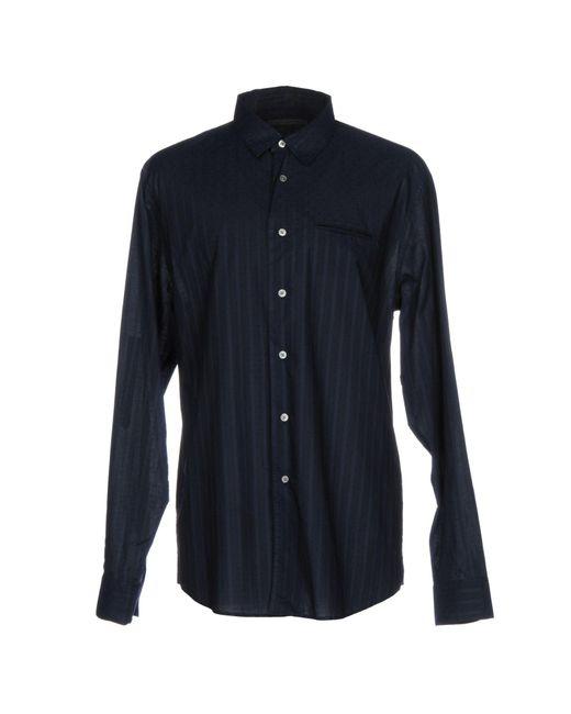 John Varvatos - Blue Shirt for Men - Lyst