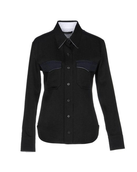 CALVIN KLEIN 205W39NYC - Black Shirt - Lyst