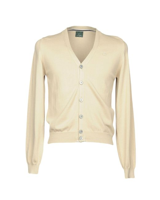 Henry Cotton's - Natural Cardigan for Men - Lyst