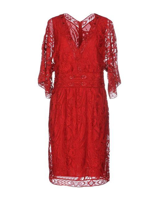 Emilio Pucci - Red Knee-length Dresses - Lyst
