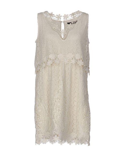 Twin Set - White Short Dress - Lyst