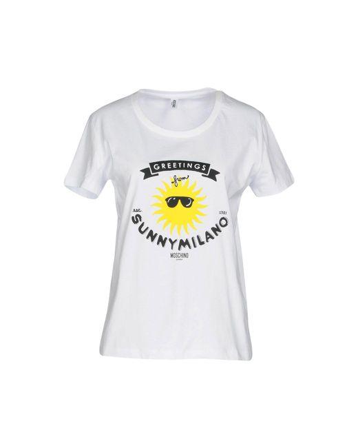 Moschino - White T-shirt - Lyst