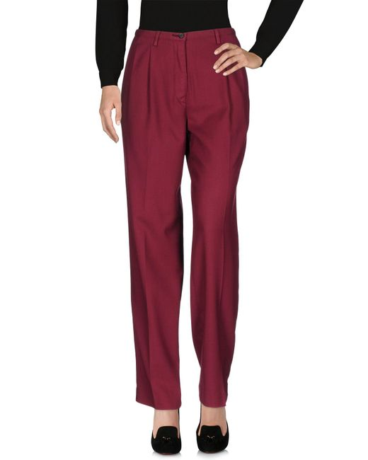 Pence - Red Casual Trouser - Lyst