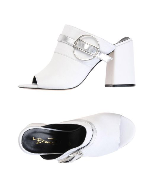 Bianca Di - White Sandals - Lyst