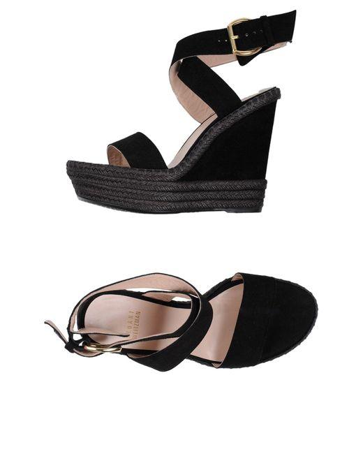 Stuart Weitzman - Black Sandals - Lyst