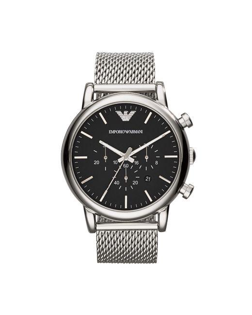 Emporio Armani - Black Wrist Watch for Men - Lyst