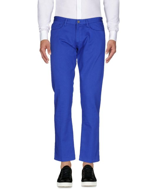 Mauro Grifoni - Blue Casual Trouser for Men - Lyst