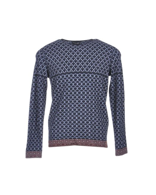 Giorgio Armani - Blue Sweater for Men - Lyst