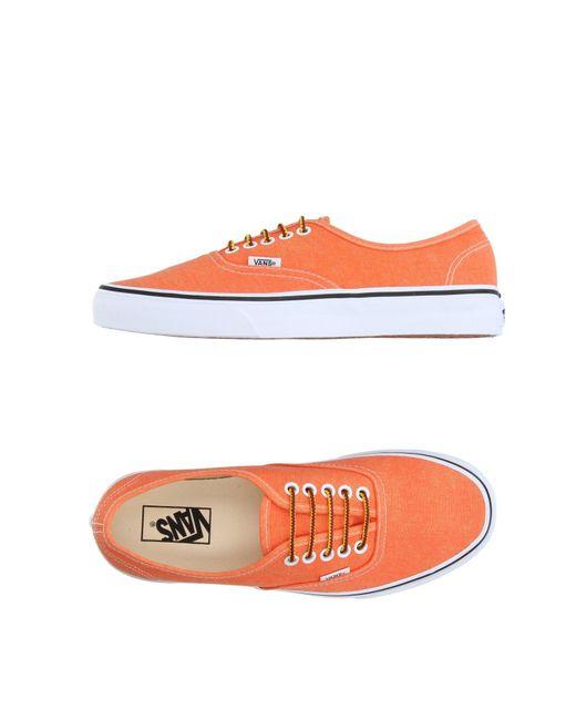 Vans - Orange Low-tops & Sneakers for Men - Lyst