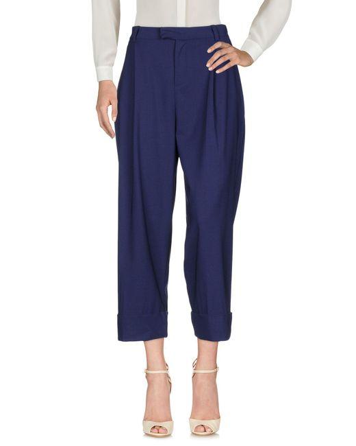Malloni - Blue Casual Pants - Lyst