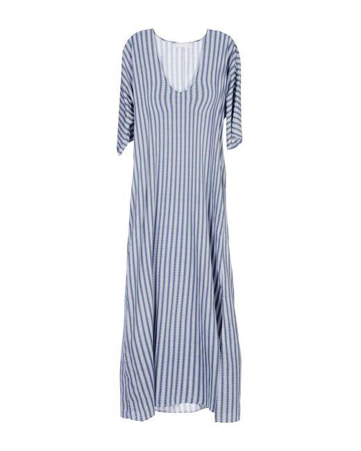Stefanel - Blue Long Dress - Lyst