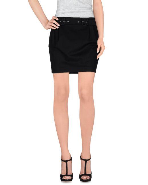 Ermanno Scervino - Black Mini Skirt - Lyst