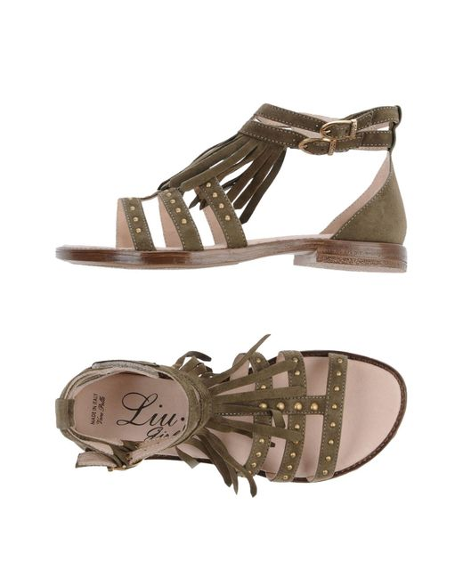 Liu Jo - Green Sandals - Lyst