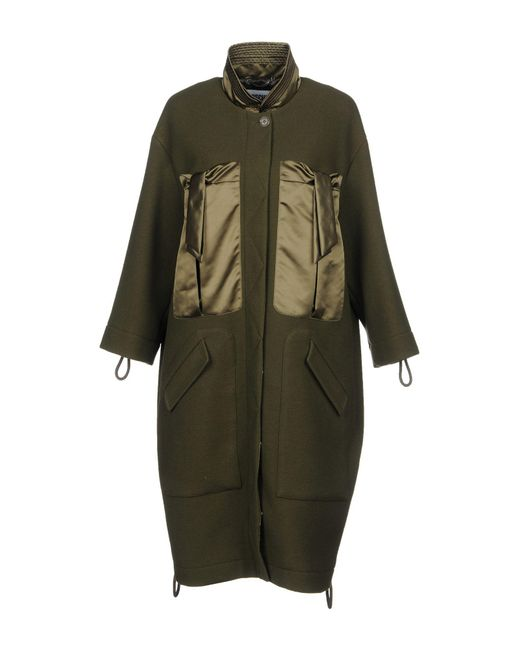 Moschino - Green Coats - Lyst