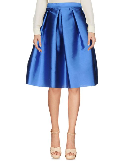 Annie P - Blue Knee Length Skirts - Lyst