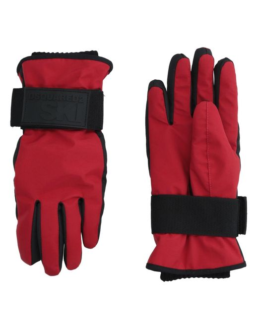 DSquared² - Red Gloves - Lyst