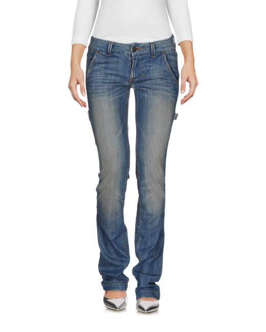 William Rast - Blue Denim Trousers - Lyst